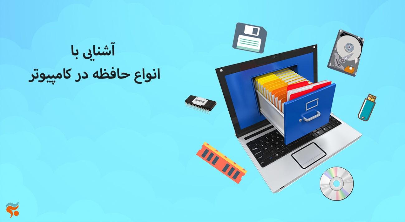 دوره آموزش مبانی کامپیوتر و it بصورت تضمینی ،کامل ، صفر تا صد و مقدماتی تا پیشرفته - آشنایی با انواع حافظه در کامپیوتر