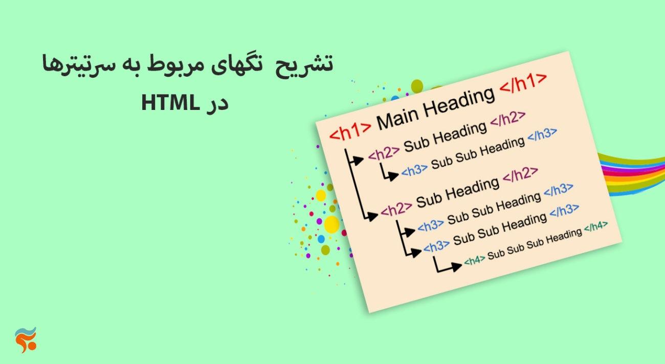 دوره آموزش html ، از مقدماتی تا پیشرفته ، تضمینی ، صفر تا صد و کامل - تشریح تگهای مربوط به سرتیترها HTML در