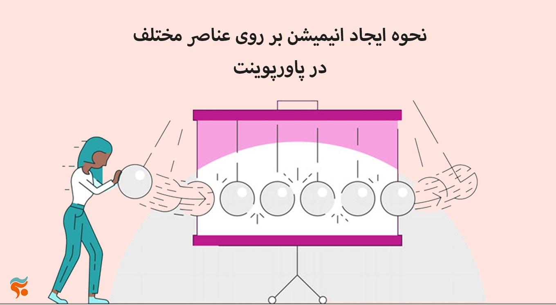 نحوه ایجاد انیمیشن بر روی عناصر مختلف در پاورپوینت- کار انمیشن ها در پاورپوینت