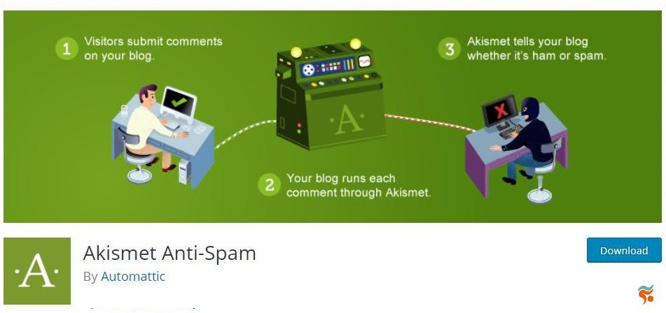 Akismet Anti-Spam -بهترین پلاگین (افزونه) های امنیتی وردپرس