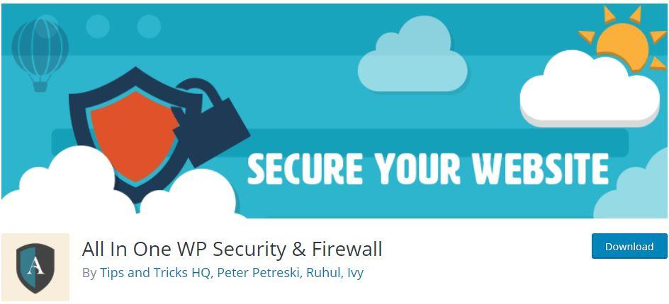 All-In-One-WP-Security-Firewall - بهترین پلاگین (افزونه) های امنیتی وردپرس