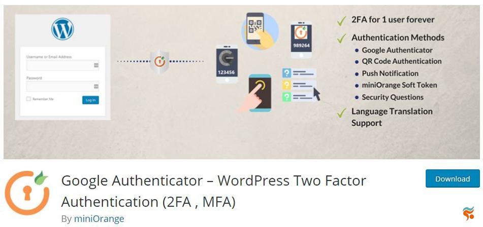 Google Authenticator - بهترین پلاگین (افزونه) های امنیتی وردپرس
