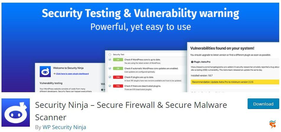 Security-Ninja- بهترین پلاگین (افزونه) های امنیتی وردپرس